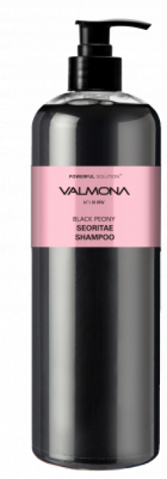 Шампунь для волос ЧЕРНЫЙ ПИОН и БОБЫ EVAS VALMONA Powerful Solution Black Peony Seoritae Shampoo 480 мл