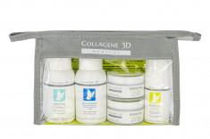 MEDICAL COLLAGENE 3D Набор для лица (крем дневной 15 мл, крем ночной 15 мл, крем-маска 15 мл, гель 50 мл, тоник 50 мл) Travel Kit Biorevital