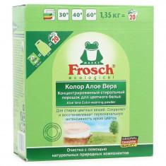 Frosch Концентрированный стиральный порошок Алоэ Вера для цветного белья 1,35кг