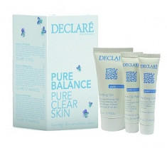 DECLARE Набор мини Чистая кожа (матирующий крем 15 мл, маска для жирной кожи 15 мл, гель для умывания 50 мл) / Set Pure Balance