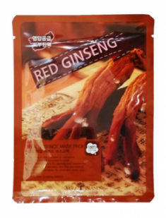 Маска тканевая с красным женьшенем May Island Real Essence Red Ginseng Mask Pack 25мл