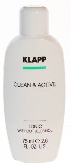 KLAPP Тоник без спирта для лица / CLEAN & ACTIVE 75 мл