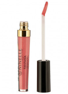 Блеск для губ с эффектом 3D объема Теплый розовый с шиммером NINELLE