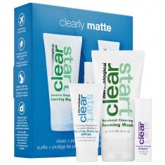 DERMALOGICA Набор для лица (очищающий гель для умывания 75 мл, усилитель очищения воспалений 10 мл, матирующий дневной крем 15 мл) / Clear Start Clearly Matte Kit