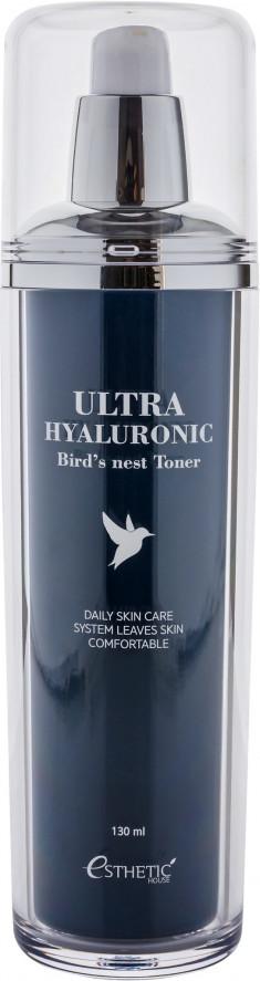 ESTHETIC HOUSE Тонер с экстрактом ласточкиного гнезда для лица / Ultra Hyaluronic acid Bird's nest Toner 130 мл