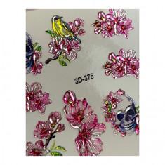 AnnaTkacheva,3D-слайдерCrystal№375 «Цветы. Черепа» Anna Tkacheva