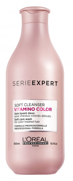 L'OREAL PROFESSIONNEL Шампунь для окрашенных волос Софт Клин / ВИТАМИНО КОЛОР 300 мл LOREAL PROFESSIONNEL