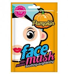 Маска для лица тканевая укрепляющая BLING POP Pumpkin Soothing & Brightening Mask 20мл