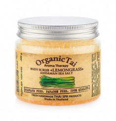 Скраб для тела с солью Андаманского моря с экстрактом лемонграсса ORGANIC TAI Aroma Therapy Body Scrub Lemongrass Andaman Sea Salt 200 г