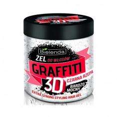 Bielenda, Гель для волос Graffiti 3D Extra Strong, черная репа, 250 мл