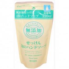 пенящееся жидкое мыло для рук (з/б) miyoshi additive free bubble hand soap pack