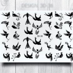 AnnaTkacheva,3D-слайдер№38,черный «Птицы. Птички» Anna Tkacheva