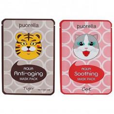 маска для лица puorella aqua mask pack
