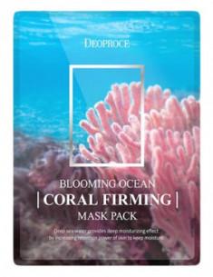 Набор тканевых масок с кораллом DEOPROCE BLOOMING OCEAN CORAL FIRMING MASK PACK 25г*5