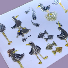 AnnaTkacheva,3D-слайдерCrystalHT№134 «Птицы. Чайки» Anna Tkacheva