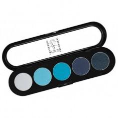 Палитра теней, 5 цветов Make-up Atelier Paris T07 синие-голубые тона