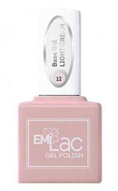 E.MI База камуфлирующая для ногтей, № 12 светло-кремовый / E.MiLac Base Gel 6 мл