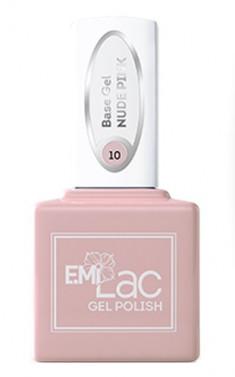 E.MI База камуфлирующая для ногтей, № 10 нюдово-розовый / E.MiLac Base Gel 15 мл