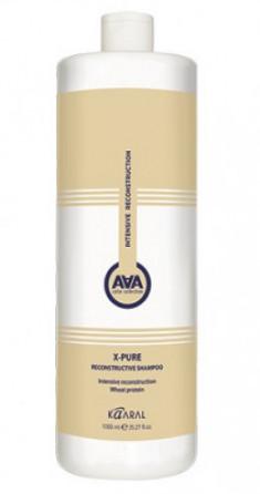 Шампунь для поврежденных волос с пшеничными протеинами Kaaral X-Form AAA X-Pure Reconstructive Shampoo 1000 мл