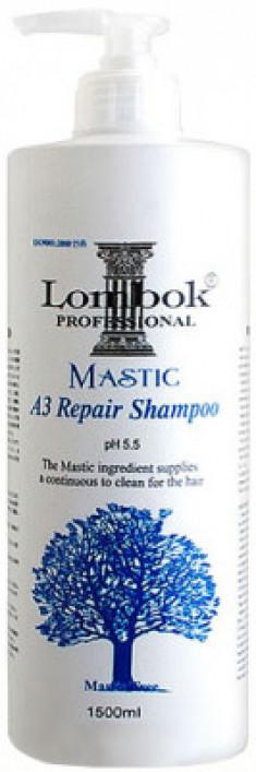 Шампунь укрепляющий Gain Cosmetic Lombok Mastic A3 Shampoo 1500мл