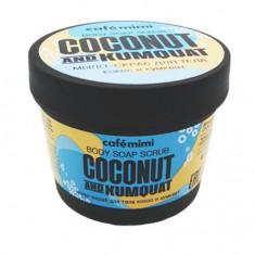 Cafemimi, Мыло-скраб для тела Coconut and Kumquat, 110 мл
