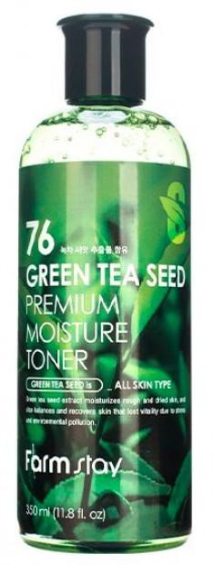 FARMSTAY Тонер увлажняющий с семенами зеленого чая 350 мл