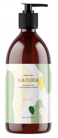 EVAS Гель для душа Зеленый чай / NATURIA Creamy Milk Body Wash - Green tea 750 мл