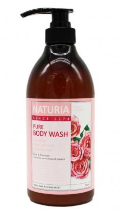 EVAS Гель для душа Роза - розмарин / NATURIA PURE BODY WASH, Rose & Rosemary 750 мл