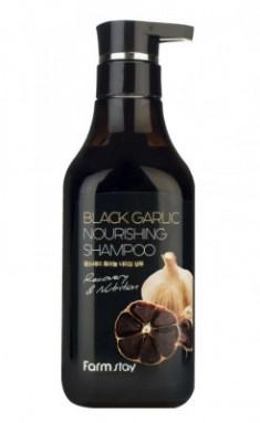 Шампунь питательный с экстрактом чёрного чеснока FarmStay Black Garlic Nourishing Shampoo 530мл