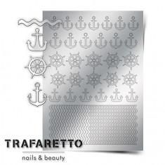 Trafaretto, Металлизированные наклейки Sea-01, серебро