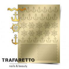 Trafaretto, Металлизированные наклейки Sea-01, золото
