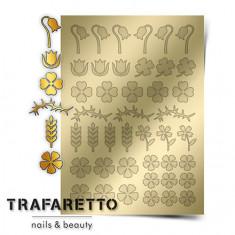 Trafaretto, Металлизированные наклейки FL-01, золото