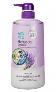 Крем-гель для душа лаванда с молоком LION Thailand Shokubutsu Monogotari 500 мл