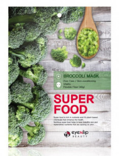Маска для лица тканевая с брокколи EYENLIP SUPER FOOD BROCCOLI MASK 23мл
