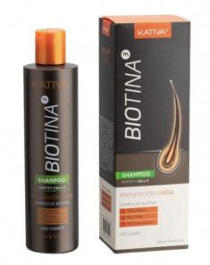 Шампунь против выпадения волос с биотином Kativa BIOTINA 250мл