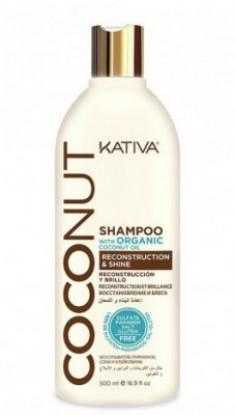 Восстанавливающий шампунь с органическим кокосовым маслом для поврежденных волос Kativa Coconut 500мл