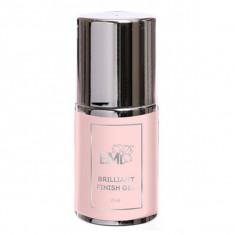 E.mi, brilliant finish gel, гель защитный глянцевый, в бутылочке, 15 мл