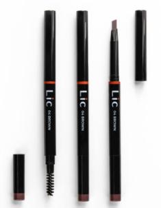 Карандаш механический для бровей с треугольным грифелем Lic Mechanical eyebrow pencil 04 Brown