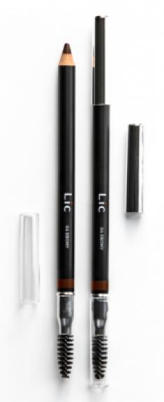 Карандаш пудровый для бровей Lic Eyebrow pencil 04 Ebony
