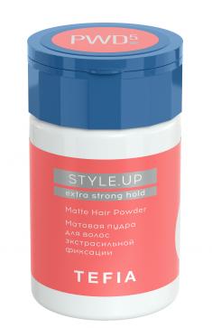 TEFIA Пудра матовая для волос экстрасильной фиксации / STYLE.UP 10 г