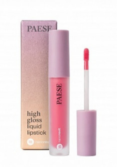 Помада жидкая PAESE High gloss liquid lipstick NANOREVIT 55 Fresh Pink