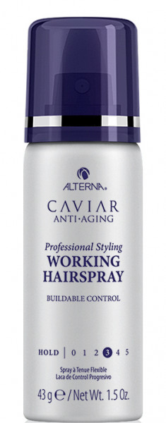 ALTERNA Лак подвижной фиксации с антивозрастным уходом / Caviar Anti-Aging Working Hairspray mini 50 мл