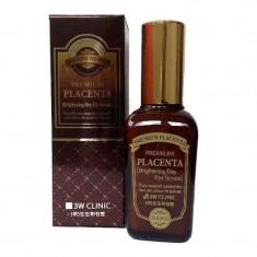 3W Clinic Плацента Сыворотка для век антивозрастной Premium placenta brightening day eye serum 50мл