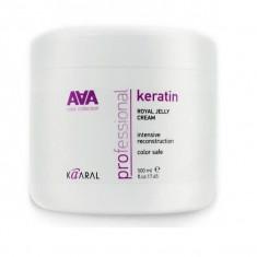Kaaral AAA Keratin Royal Jelly Crem Питательная крем-маска для восстановленных окрашенных и химически обработанных волос 500мл