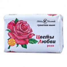 Невская косметика Мыло туалетное Цветы любви Роза 90г НЕВСКАЯ КОСМЕТИКА