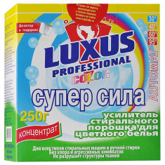Luxus Супер сила Усилитель стирального порошка для цветного белья 250г Luxus Professional