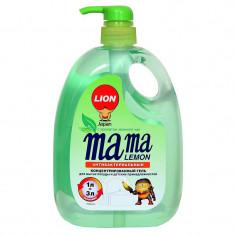Lion Mama Lemon Green Tea Fragrance Зеленый чай Гель для мытья посуды 1000мл