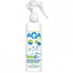 Аква Бэби Антибактериальный спрей для очищения всех поверхностей в детской комнате 300 мл AQA BABY