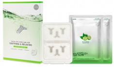 SNOW2+ Патчи с микроиглами 6 шт + маска для лица 2 шт Успокаивающий и расслабляющий уход / Magnesium Micro Facial Eye Care for Soothing & Relaxing