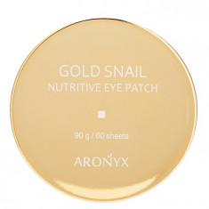 MEDI FLOWER Патчи гидрогелевые с экстрактом муцина улитки и частицами золота для глаз / Aronyx 60 шт